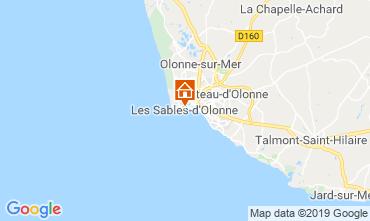 Map Les  Sables d'Olonne Apartment 117838