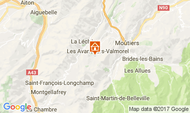 Map Valmorel Apartment 111732