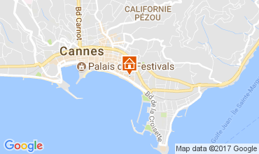 Map Cannes Apartment 5501