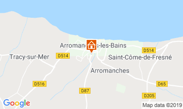 Map Arromanches Self-catering property 90681