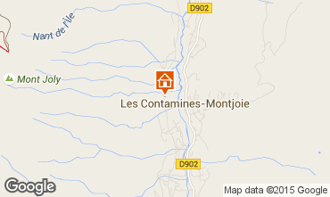 Map Les Contamines Montjoie House 73415