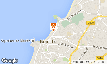 Map Biarritz Apartment 24484