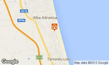 Map Alba Adriatica Apartment 88815