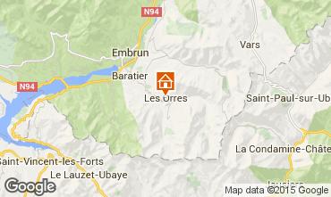 Map Les Orres Studio apartment 80919