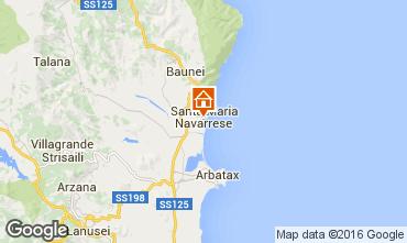 Map Santa Maria Navarrese Apartment 40493