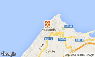 Map Capo d'Orlando Apartment 61636
