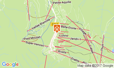 Map Les 2 Alpes Apartment 111845