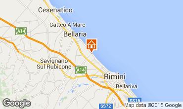 Map Rimini Apartment 73189