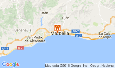 Map Marbella Apartment 77829