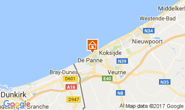 Map De Panne Apartment 111929
