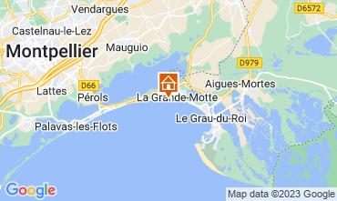 Map La Grande Motte Apartment 57110