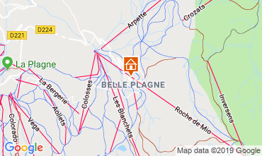 Map La Plagne Apartment 117798