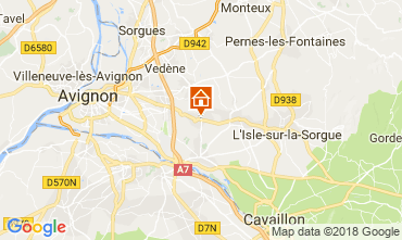 Map Isle sur la Sorgue Self-catering property 80424