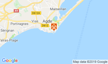 Map Cap d'Agde Studio apartment 118696