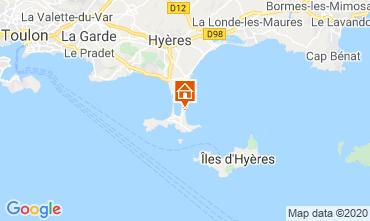 Map Hyères Studio apartment 5810