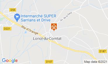 Map Loriol-du-Comtat Self-catering property 98363