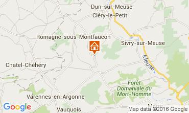 Map Verdun Self-catering property 105332