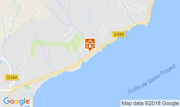 Map Saint Tropez House 93909