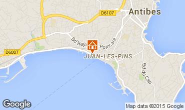 Map Juan les Pins Studio apartment 77023