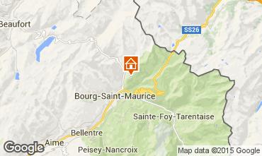 Map Les Arcs Apartment 91604