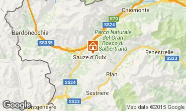 Map Sauze d'Oulx Apartment 91663