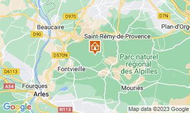 Map Les Baux de Provence Self-catering property 13098