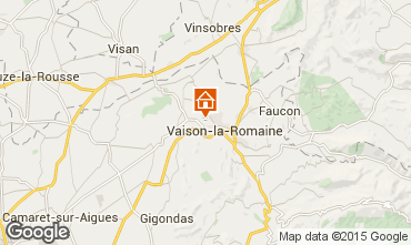 Map Vaison la Romaine Self-catering property 81749