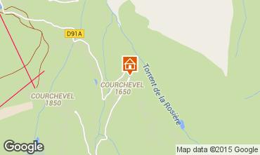 Map Courchevel Apartment 1096