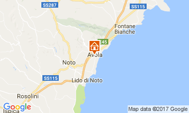 Map Avola Apartment 103583