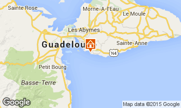 Map Gosier (Guadeloupe) Studio apartment 8007