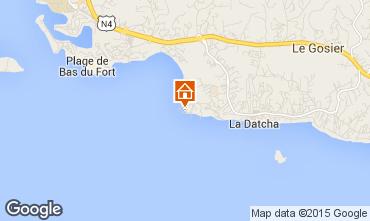 Map Gosier (Guadeloupe) Studio apartment 8007