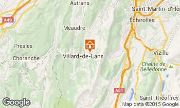 Map Villard de Lans - Corrençon en Vercors Chalet 3640