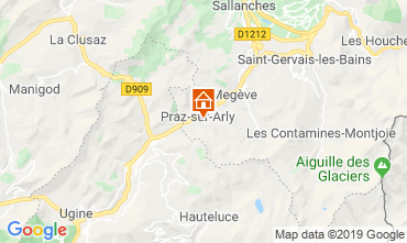 Map Praz sur Arly Mobile home 91335