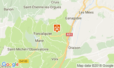Map Forcalquier Self-catering property 114564