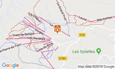 Map La Toussuire Chalet 112290