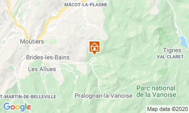 Map La Plagne Apartment 102107