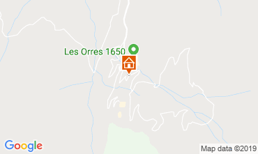 Map Les Orres Studio apartment 101432