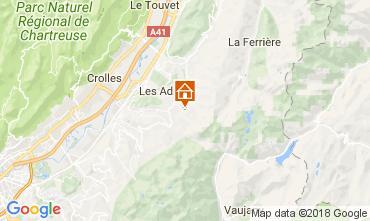 Map Les Sept Laux Studio apartment 113096