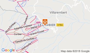Map Le Corbier Apartment 117022