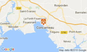 Map Concarneau Studio apartment 34964