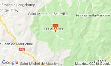 Map Les Menuires Apartment 116806