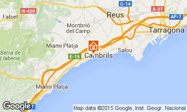 Map Cambrils Apartment 71602