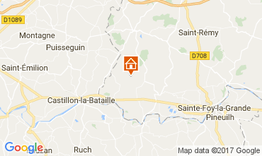 Map Bergerac Self-catering property 111984