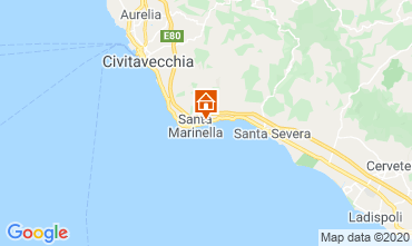 Map Santa Marinella Apartment 87399