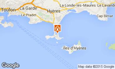 Map Hyères Apartment 79826