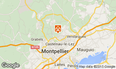 Map Montpellier Villa 9206