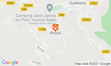 Map Risoul 1850 Apartment 75018