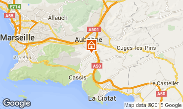 Map Cassis Studio apartment 76709