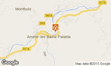 Map Amélie-Les-Bains Studio apartment 98778