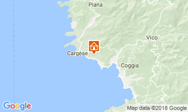 Map Cargèse Villa 115547